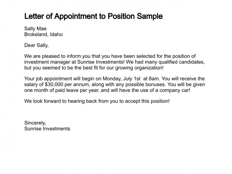 Sample cover letter for sending documents