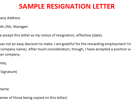 Resignation letter legal documents resignation letter spiritdancerdesigns Choice Image
