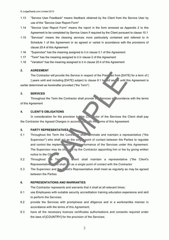Business Services Agreement – Legal Documents
