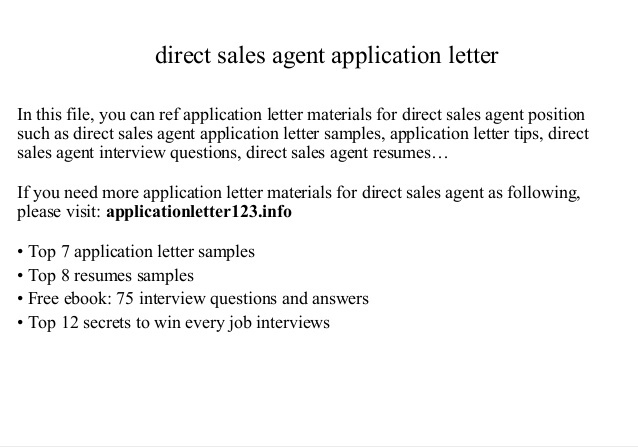 Direct Selling Agent Agreement Legal Documents