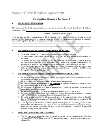 Retainership Agreement – Legal Documents
